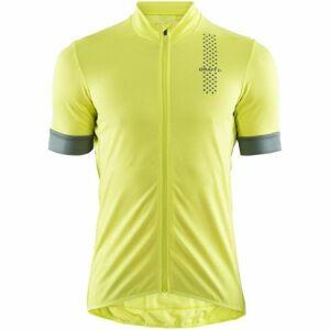 Craft RISE žlutá XL - Pánský cyklistický dres