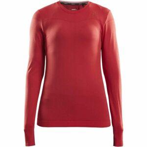 Craft FUSEKNIT COMFORT RN LS W červená XL - Dámské funkční triko