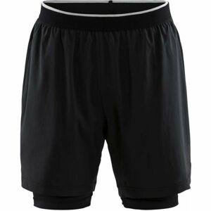 Craft CHARGE 2v1 černá M - Pánské sportovní šortky
