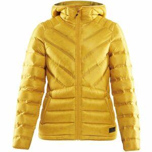 Craft LIGHTWEIGHT DOWN žlutá L - Dámská zimní bunda