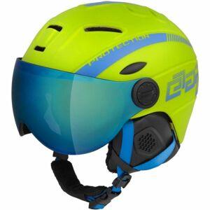 Etape RIDER PRO zelená (53 - 55) - Dětská lyžařská přilba s visorem
