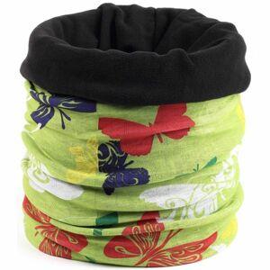 Finmark DĚTSKÝ MULTIFUNKČNÍ ŠÁTEK růžová UNI - Dětský multifunkční šátek s fleecem