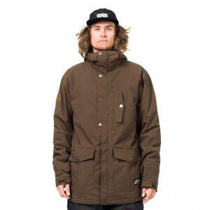 Horsefeathers HUBBARD JACKET hnědá XL - Pánská zimní bunda