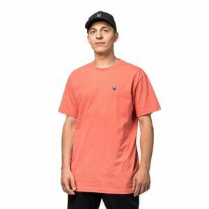 Horsefeathers HORN SS T-SHIRT oranžová S - Pánské tričko