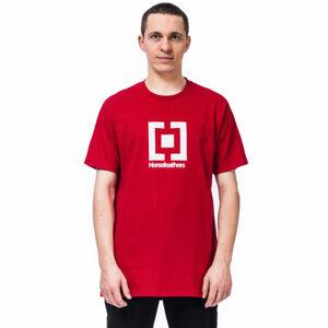 Horsefeathers BASE T-SHIRT červená XL - Pánské tričko