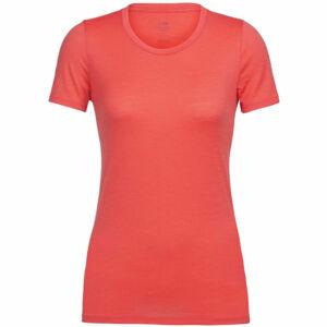 Icebreaker TECH LITE SS LOW CREWE oranžová L - Dámské tričko