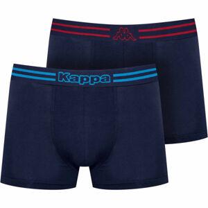 Kappa LOGO ZEN 2PACK modrá XXL - Pánské boxerky