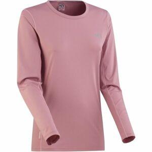 KARI TRAA NORA LS růžová XS - Dámské tréninkové tričko s dlouhým rukávem