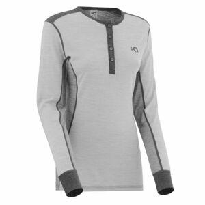 KARI TRAA FLETTE LS šedá L - Dámské sportovní triko