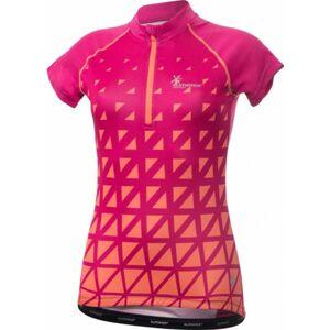 Klimatex ALBINA růžová L - Dámský cyklistický dres