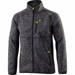 Klimatex KADRAT šedá XL - Pánský outdoor svetr