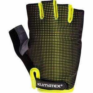 Klimatex RIELI zelená XL - Pánské cyklistické rukavice
