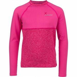 Klimatex WILLY světle růžová 146 - Dětské funkční triko s dlouhým rukávem