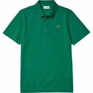 Lacoste MEN S/S POLO tmavě zelená XL - Pánské polo tričko