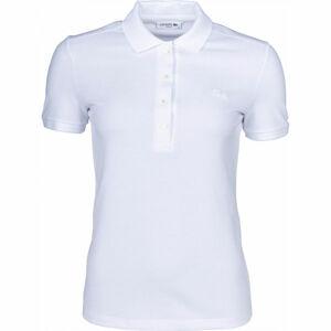 Lacoste SHORT SLEEVE POLO bílá S - Dámské polo tričko