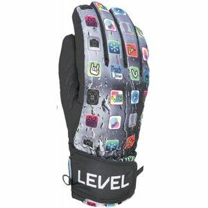 Level JUKE JR černá 6 - Dětské lyžařské rukavice