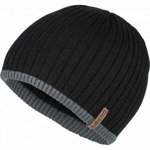 Lewro BOBYS černá 8-11 - Chlapecká pletená čepice