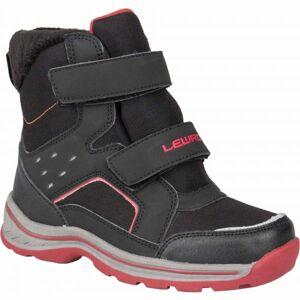 Lewro CRONUS černá 25 - Dětská zimní obuv