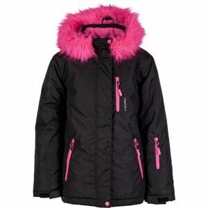 Lewro DARLEEN černá 152-158 - Dívčí snowboardová bunda
