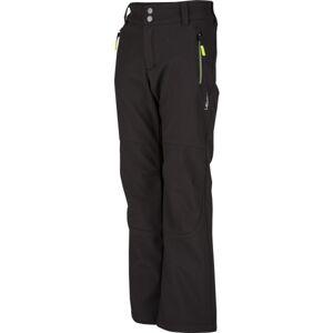Lewro DAYSON 116-134 černá 116-122 - Dětské softshellové kalhoty