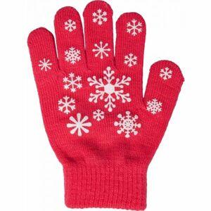 Lewro ANIFE růžová 4-7 - Dívčí pletené rukavice