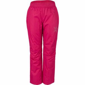 Lewro GIDEON růžová 152-158 - Dětské zateplené kalhoty