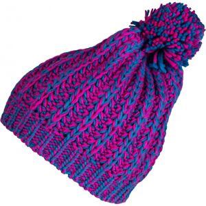 Lewro HANKA růžová 4-7 - Dívčí pletená čepice