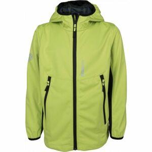 Lewro KEVIN zelená 116-122 - Chlapecká softshellová bunda