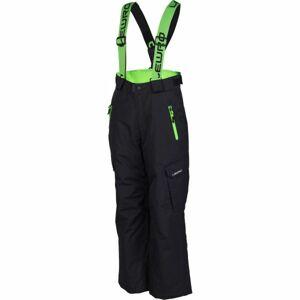 Lewro NIVES zelená 116-122 - Dětské snowboardové kalhoty