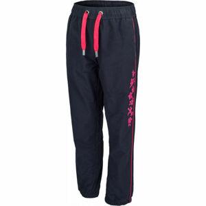 Lewro SORES růžová 116-122 - Dětské plátěné kalhoty