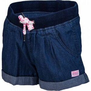 Lewro KARINA modrá 152-158 - Dívčí šortky džínového vzhledu