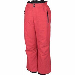 Lewro NUR růžová 128-134 - Dětské lyžařské kalhoty