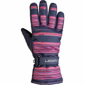 Lewro PYRY růžová 8-11 - Dětské lyžařské rukavice