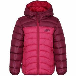 Loap INPETO růžová 122-128 - Dětská bunda
