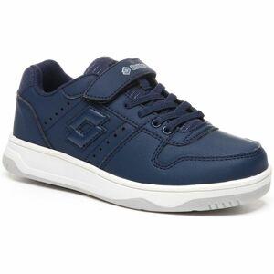 Lotto BASKETLOW NU CL SL tmavě modrá 34 - Chlapecká volnočasová obuv