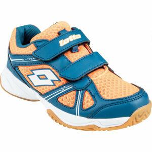 Lotto JUMPER 400 CL S oranžová 31 - Dětská sálová obuv