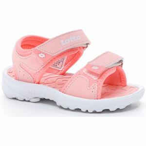 Lotto LAS ROCHAS IV INF růžová 26 - Dětské sandály