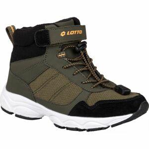 Lotto AION tmavě zelená 32 - Dětská zimní obuv