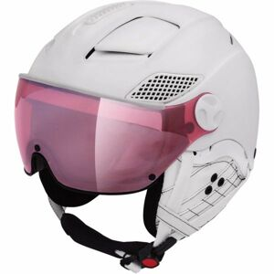 Mango MONTANA VIP bílá (60 - 62) - Unisex lyžařská přilba s visorem