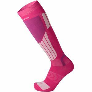 Mico LIGHT WEIGHT NATURAL MERINO SKI SOCKS růžová L - Lyžařské ponožky