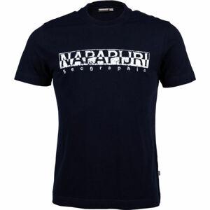 Napapijri SOLANOS černá L - Pánské tričko