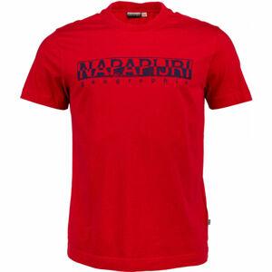 Napapijri SOLANOS červená L - Pánské tričko