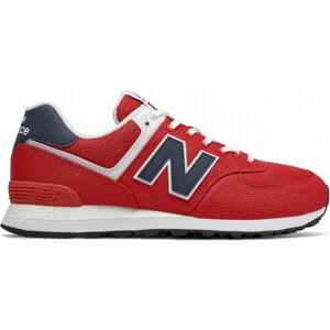 New Balance ML574SCH červená 10 - Pánská volnočasová obuv