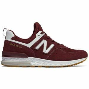 New Balance MS574FCW červená 7.5 - Pánská volnočasová obuv