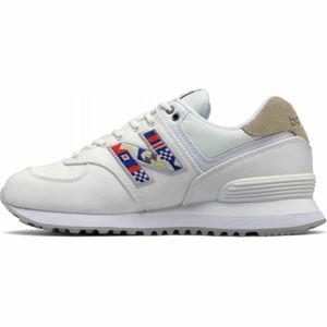 New Balance WL574SOD bílá 6 - Dámská volnočasová obuv