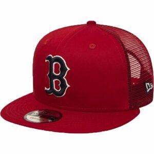 New Era 9FIFTY MLB ESSENTIAL A FRAME BOSTON RED SOX TRUCKER CAP červená M/L - Pánská klubová truckerka