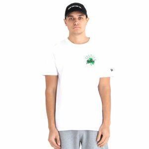 New Era NBA SCRIPT LOGO BOSTON CELTICS bílá XL - Pánské tričko