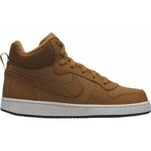 Nike COURT BOROUGH MID GS hnědá 5.5Y - Dětské volnočasové boty
