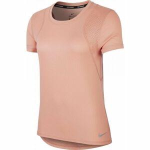 Nike RUN TOP SS W oranžová L - Dámské běžecké triko