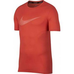 Nike BREATHE RUN TOP SS GX červená M - Pánský běžecký top
